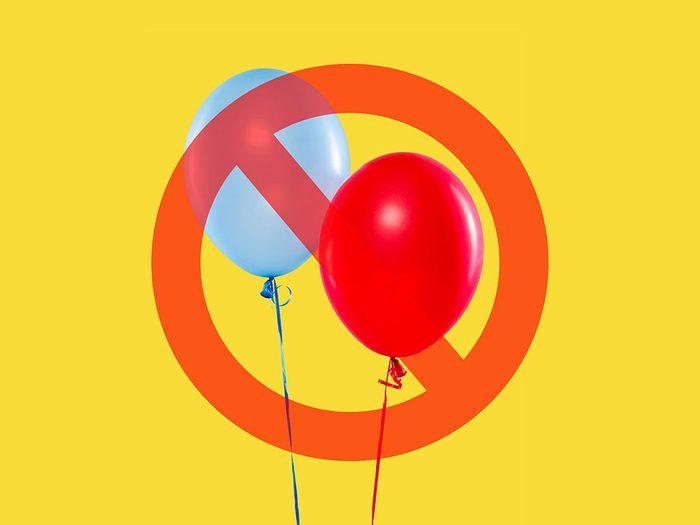 Les ballons sont interdits à la Maison Blanche.