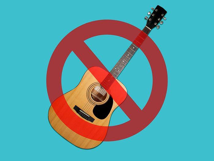 Les concerts sont interdits à la Maison Blanche.