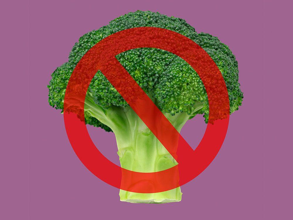 Le brocoli est interdit à la Maison Blanche.