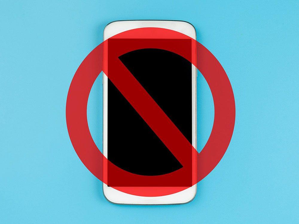 Les téléphones cellulaires personnels sont interdits à la Maison Blanche.