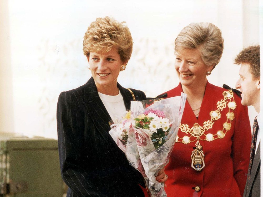 Photos de la princesse Diana avec Jenny Bianco, maire de Westminster.