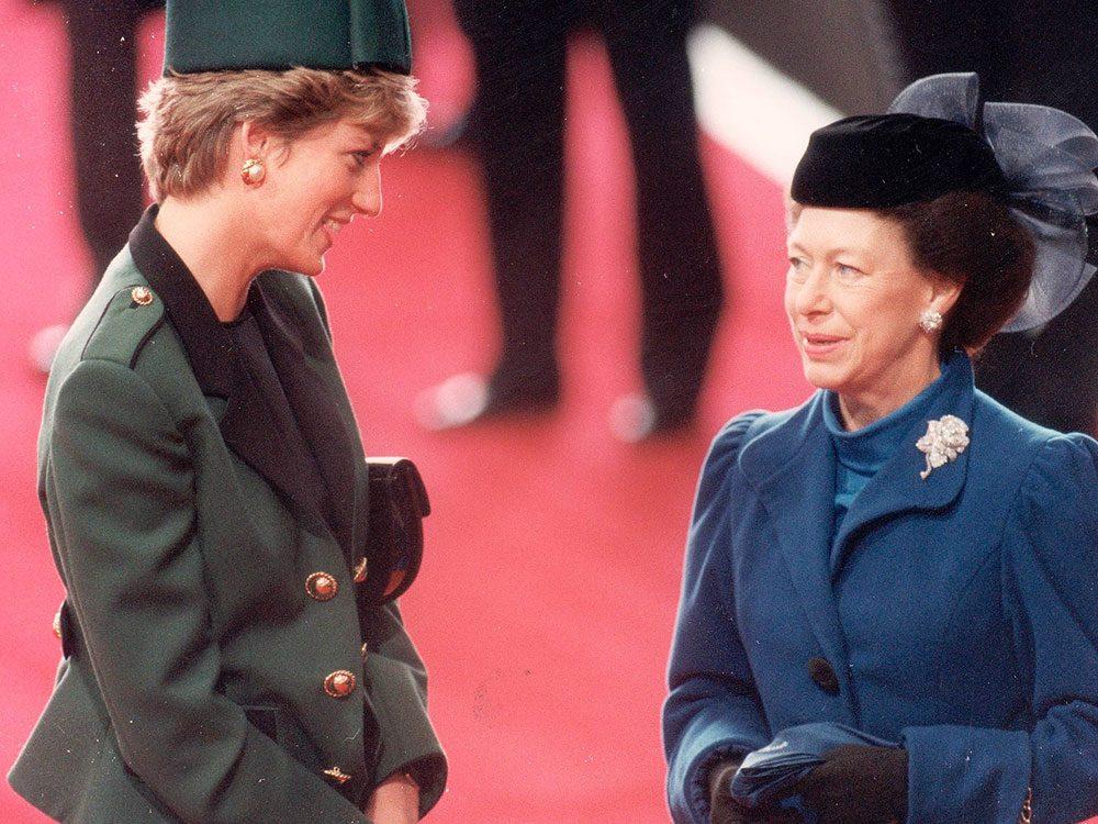 Photos de la princesse Diana avec la princesse Margaret.