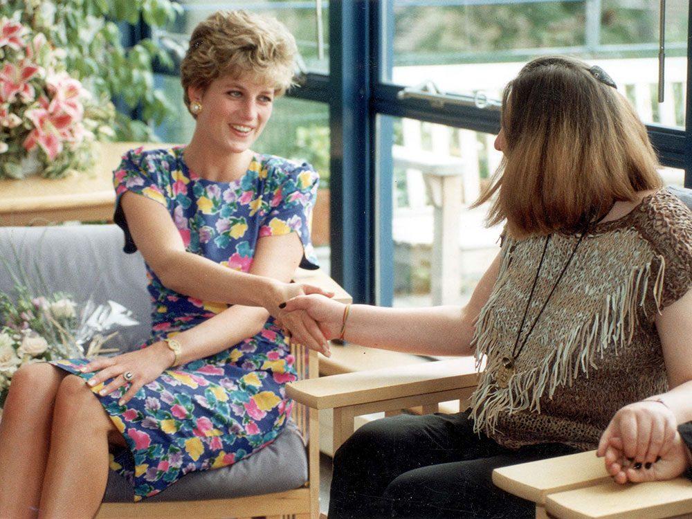 Photos de la princesse Diana avec Sylvia Killick.