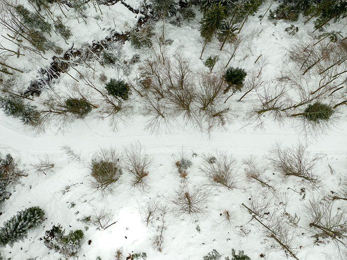 Le Parc national de la Yamaska est parfait pour une randonnée hivernale.