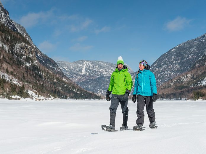 Le Parc national des Hautes-Gorges-de-la-Rivière-Malbaie est parfait pour une randonnée hivernale.