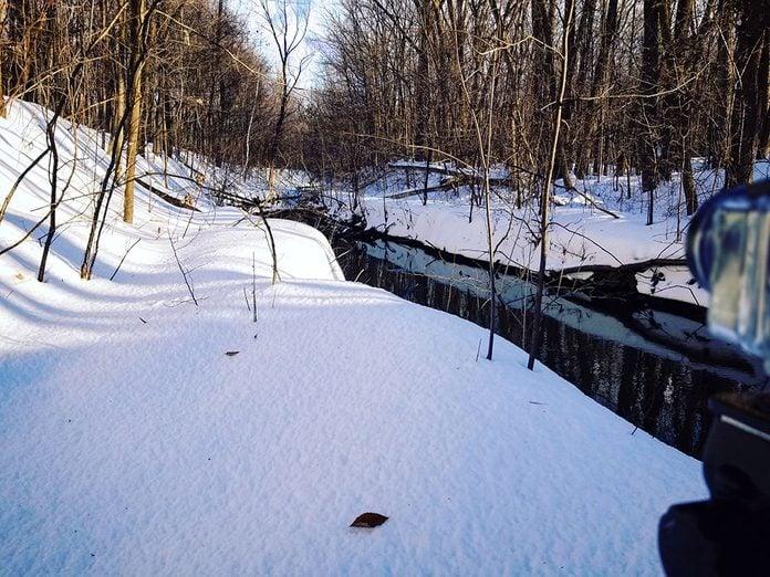 Le Parc-nature du Bois-de-Liesse est parfait pour une randonnée hivernale.