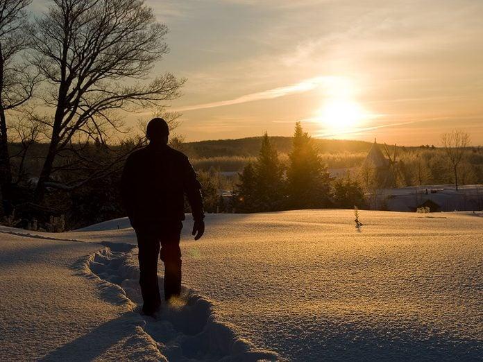 Les sentiers du Baluchon sont parfaits pour une randonnée hivernale.