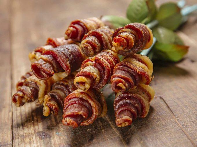 Un bouquet de bacon pour la Saint-Valentin.