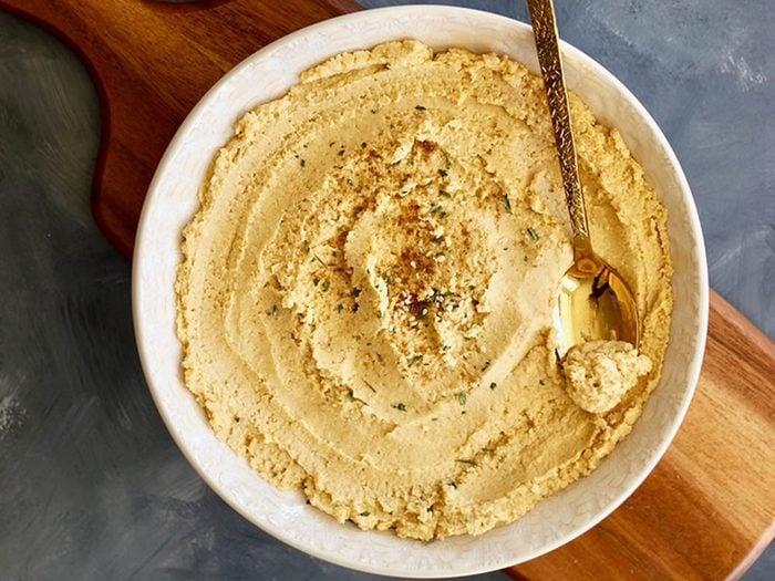 Recettes de houmous au beurre d'arachides.