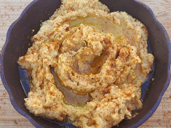 Recettes de houmous au curry.