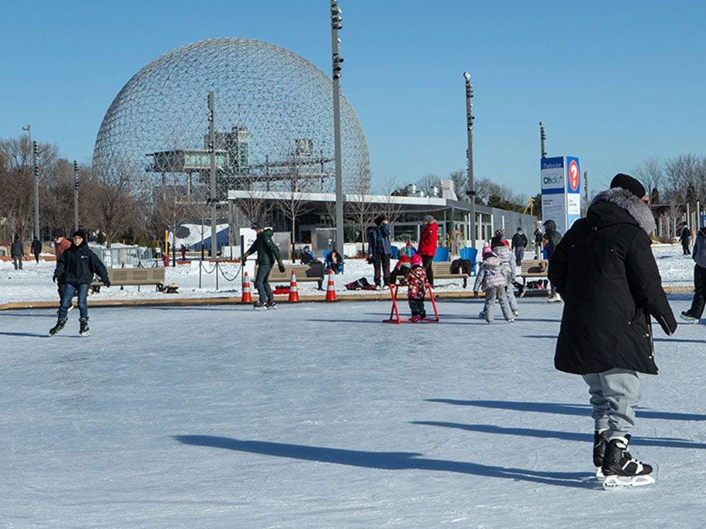 Pendant la semaine de relâche, allez patiner à l'anneau de glace du parc Jean-Drapeau.