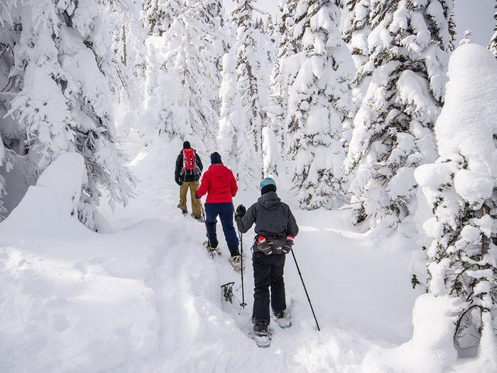 Le Parc national des Monts-Valin au Saguenay - Lac-Saint-Jean est l'un des sentiers de raquette au Québec.