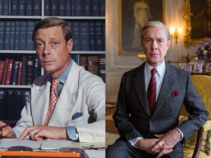 David, Duc de Windsor et ancien roi Edward VIII dans la série The Crown.