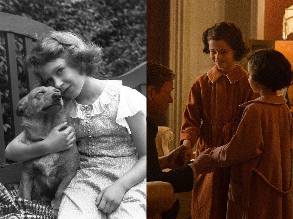 La jeune princesse Elizabeth d'York dans la série The Crown.