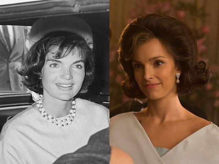 Jacqueline Kennedy dans la série The Crown.