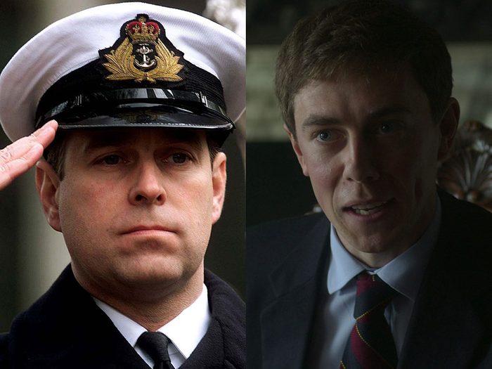 Le Prince Andrew, Duc d'York dans la série The Crown.