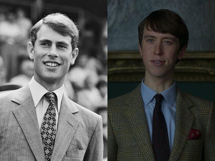 Le Prince Edward, dans la série The Crown.