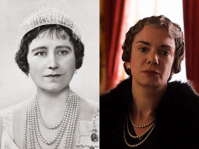 La Reine Consort, la Reine Elizabeth dans la série The Crown.