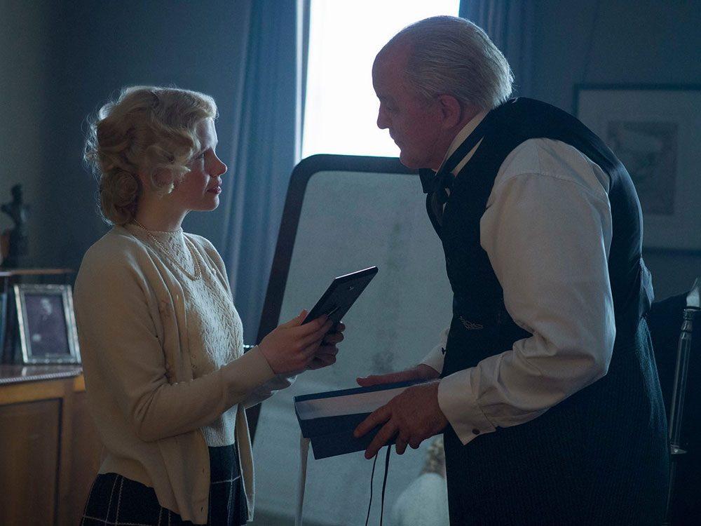 Venetia Scott dans la série The Crown.