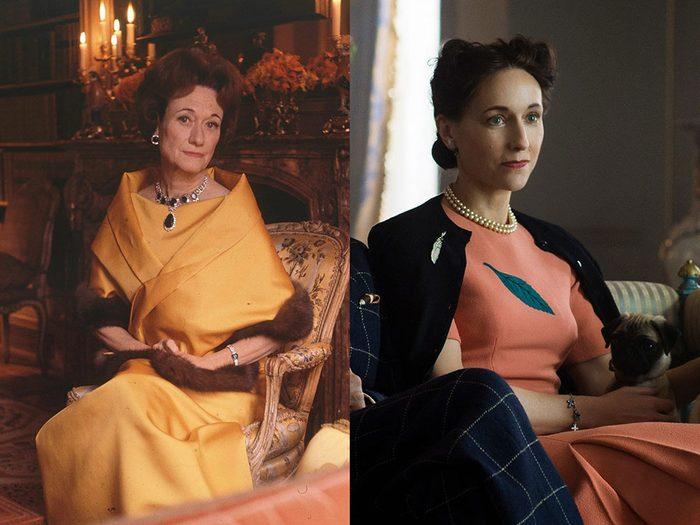 Wallis Simpson, duchesse de Windsor dans la série The Crown.