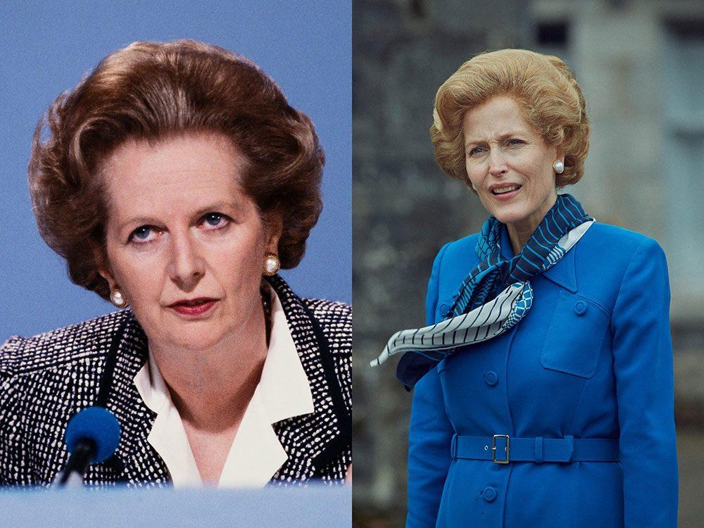 La première ministre Margaret Thatcher dans la série The Crown.