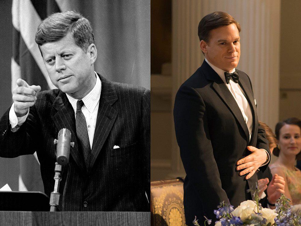 John F. Kennedy dans la série The Crown.