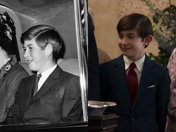 Le prince Charles adolescent dans la série The Crown.