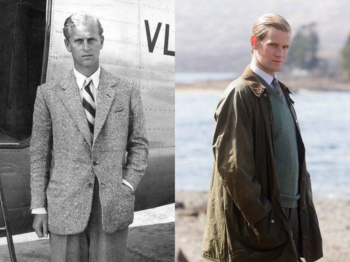 Le prince Philip jeune homme dans la série The Crown.