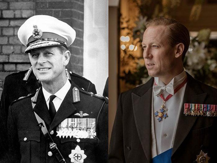 Le prince Philippe au moyen âge dans la série The Crown.