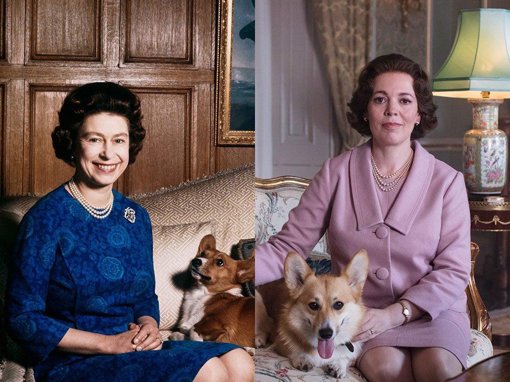 Olivia Colman dans le rôle de la reine Elizabeth II dans la série The Crown.