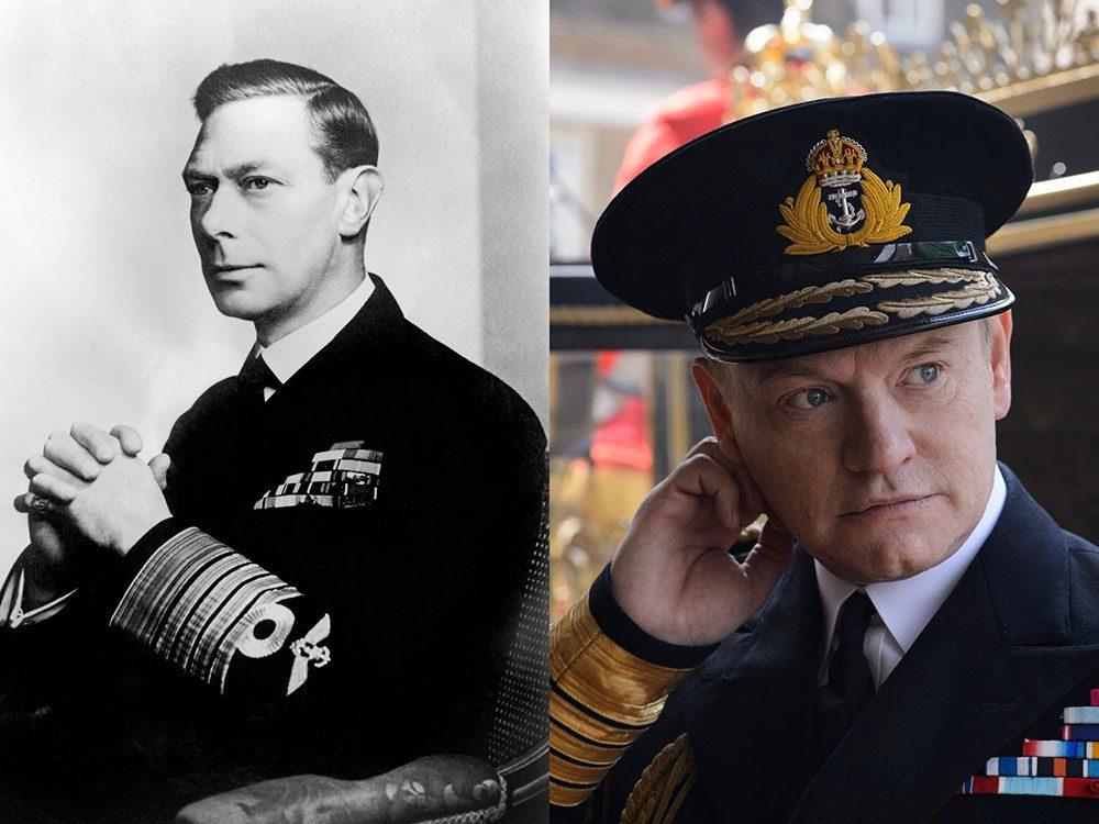 Le roi George VI dans la série The Crown.