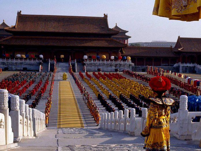 «Le dernier empereur» a reçu l'un des Oscars du meilleur film.