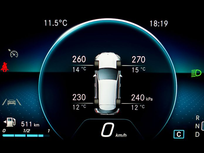 L'indicateur de pression des pneus fait partie des caractéristiques que votre voiture a sans doute.