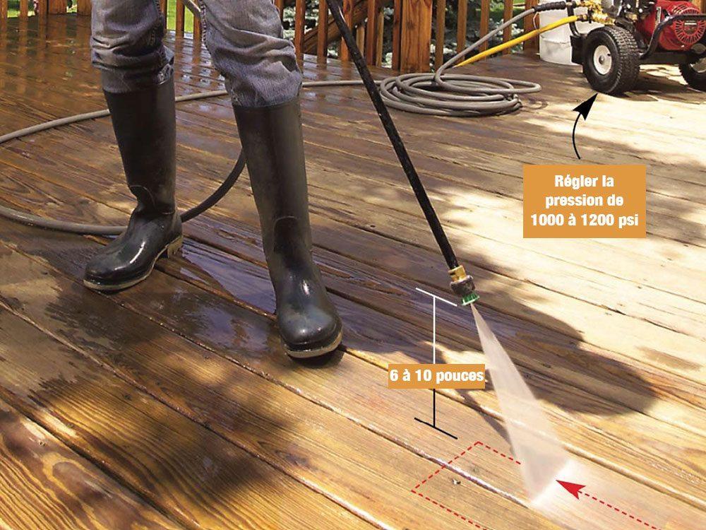 Comment nettoyer son patio: nettoyer les planches.