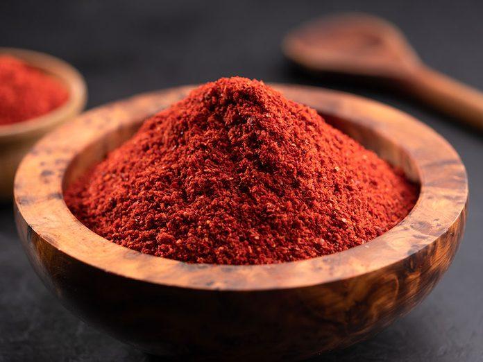 Le piment de Cayenne l'un des suppléments à prendre contre les douleurs articulaires.