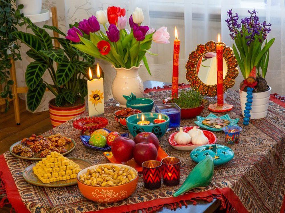 La célébration du Nouvel An perse commence à l'équinoxe de printemps.