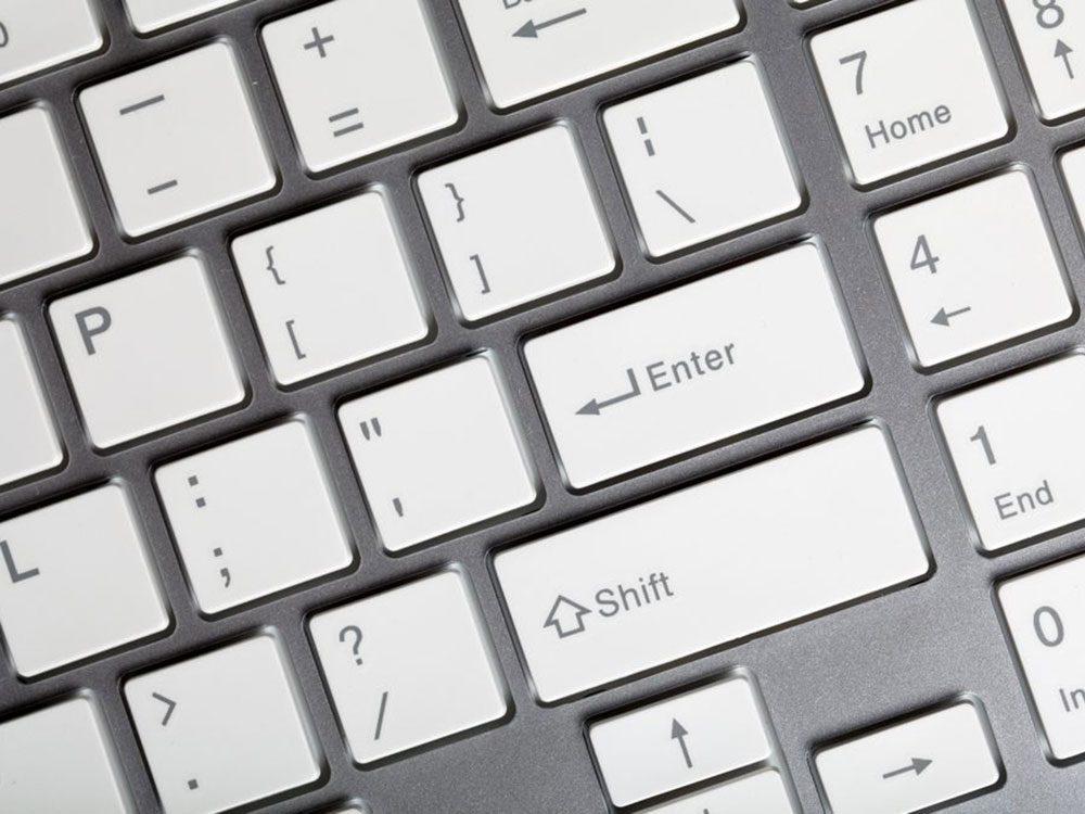 N'oubliez pas de faire le grand ménage de votre clavier d'ordinateur.