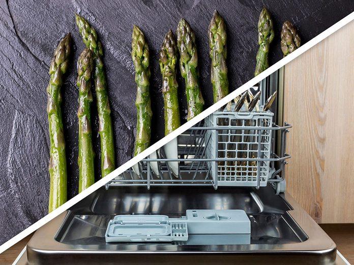 Vous serez surpris d'apprendre que vous pouvez faire des légumes à vapeur au lave-vaisselle!