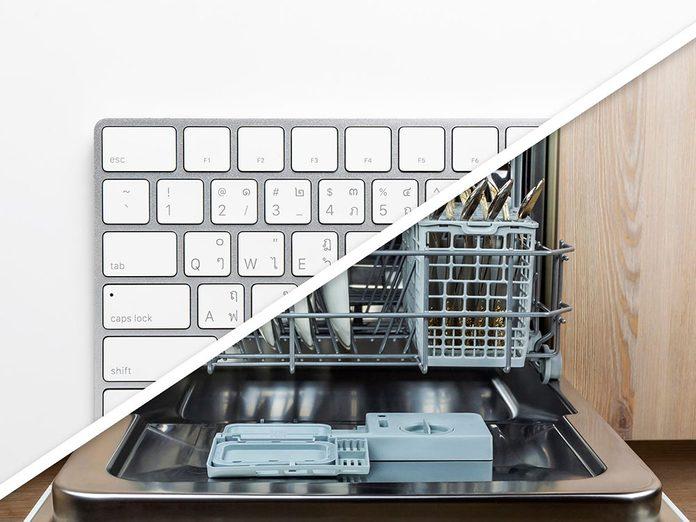 Vous serez surpris d'apprendre que vous pouvez désinfecter un clavier d'ordinateur au lave-vaisselle!
