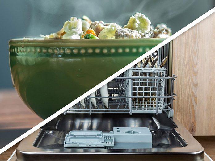 Vous serez surpris d'apprendre que vous pouvez faire garder les aliments au chaud dans le lave-vaisselle!