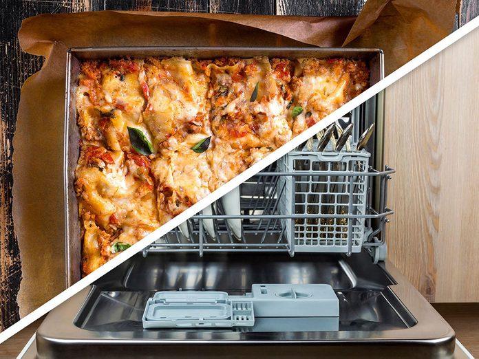 Vous serez surpris d'apprendre que vous pouvez faire cuire des lasagnes maison au lave-vaisselle!