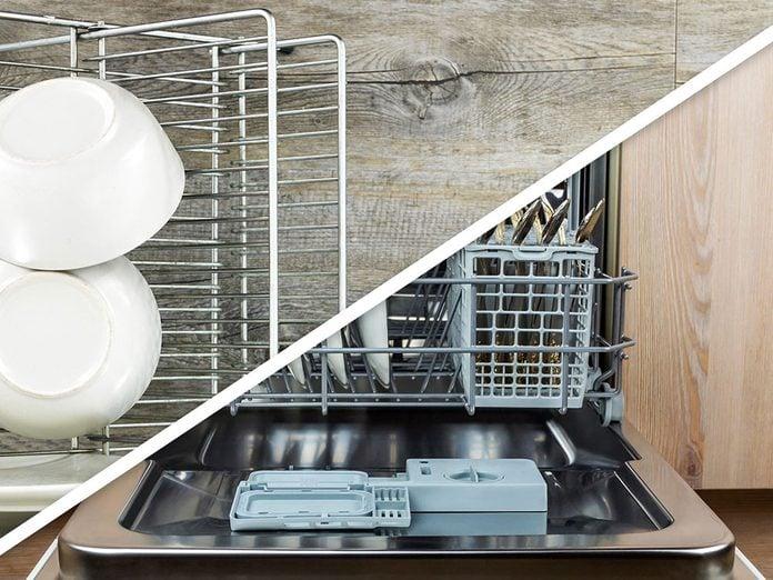 Vous serez surpris d'apprendre que vous pouvez réutiliser les paniers pour le rangement au lave-vaisselle!