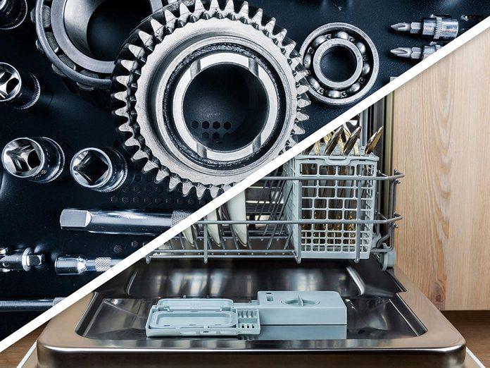 Vous serez surpris d'apprendre que vous pouvez dégraisser les pièces de la voiture au lave-vaisselle!