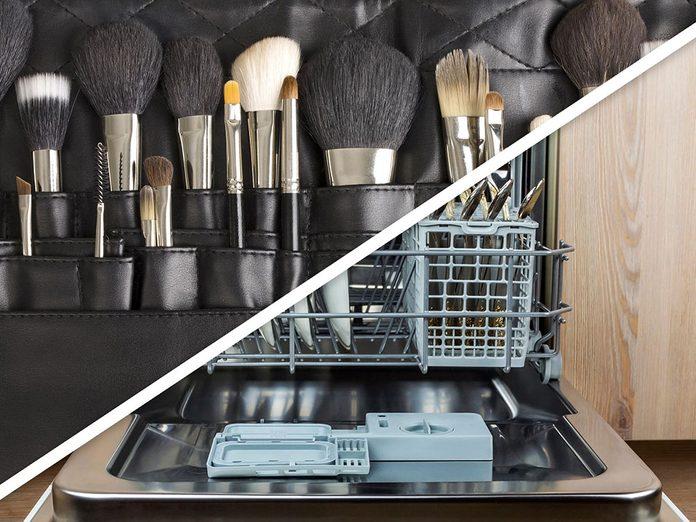 Vous serez surpris d'apprendre que vous pouvez désinfecter les pinceaux de maquillage au lave-vaisselle!