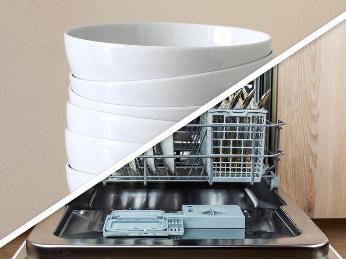 Vous serez surpris d'apprendre que vous pouvez réchauffer les assiettes au lave-vaisselle!