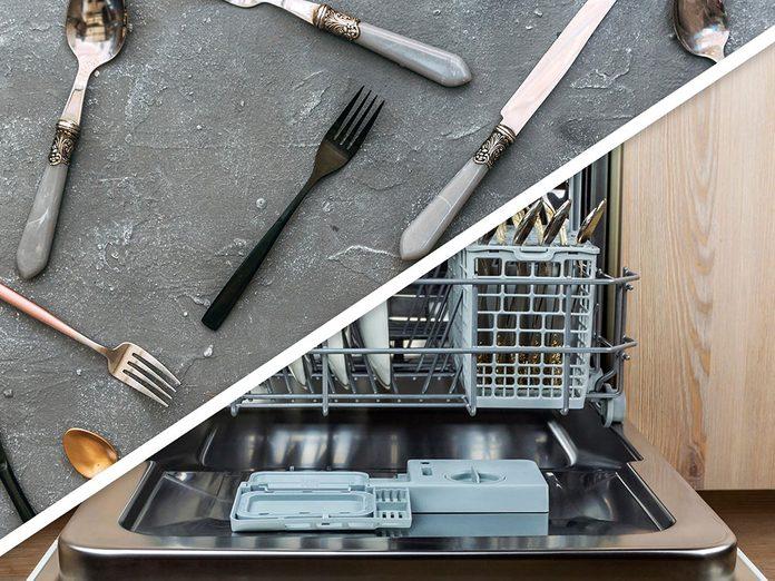 Vous serez surpris d'apprendre que vous pouvez ranger les ustensiles et les crayons au lave-vaisselle!