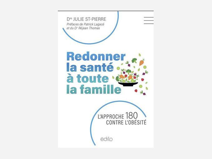 Livre: «L'approche 180 contre l'obésité» de la Dre St-Pierre.