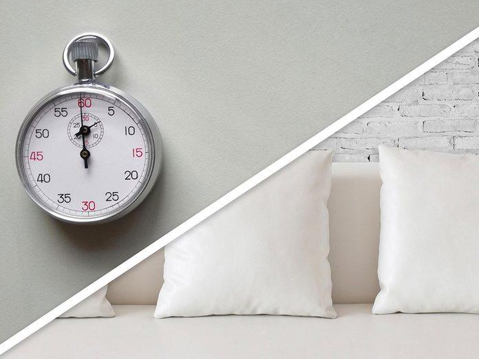 Ménage du printemps: faire son lit.