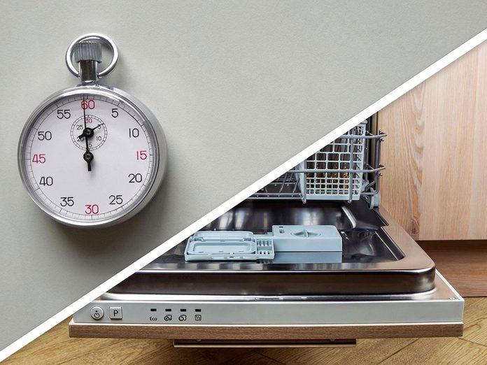 Ménage du printemps: remplir le lave-vaisselle.