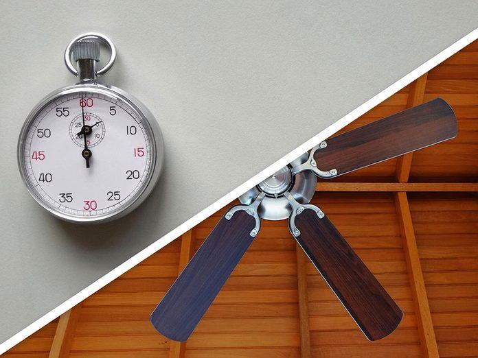 Ménage du printemps: épousseter le ventilateur.